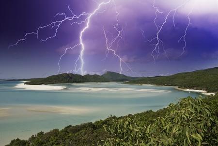 Colors of Whitehaven Beach in the Whitsundays Archipelago, Australia Stock Photo - 9894590