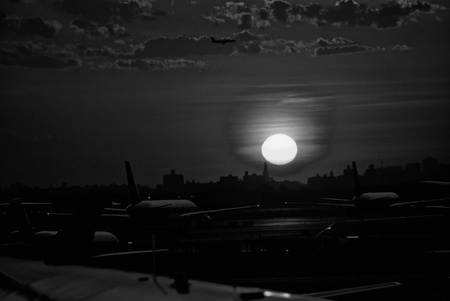 Sunset at the Airport in New York City photo