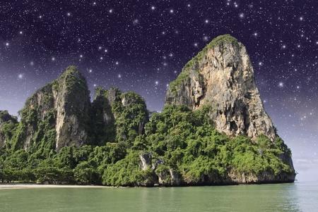 starry night: Starry Night over Thai Island, Asia