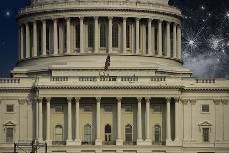 starry night: Starry Night over Washington Capitol, U.S.A.