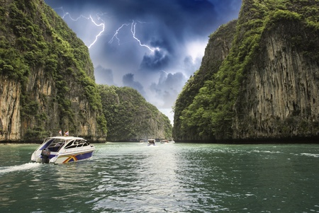 Storm over Lagoon, Thailand photo