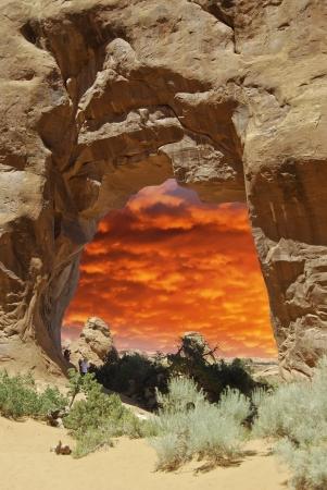 u s a: Nature of Arches National Park, U S A