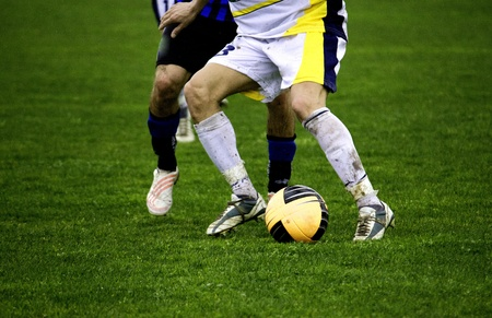 Protecting the Ball during a Football Match, Italy