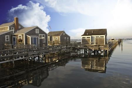 cape cod style: Nantucket Architecture, Massachusetts, U S A