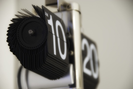 Modern Clock Showing Time, Italy photo