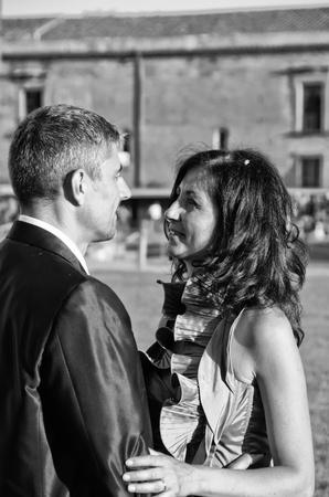 Loving Attitude between Bride and Groom photo