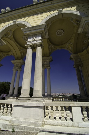 the gloriette: Arches of The Gloriette in Schonbrunn Castle, Vienna