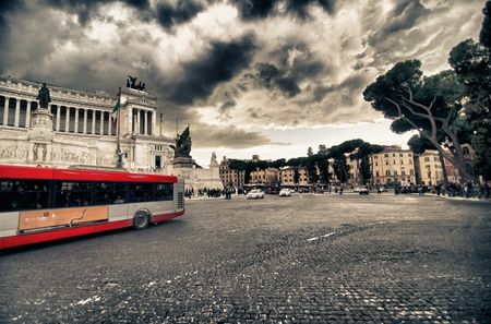 rome italy: Bus Tour in Rome, Italy Editorial
