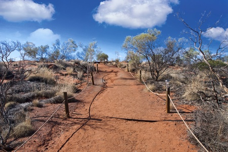 Australian Outback with Clouds during Winter photo