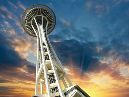 Sunset over Seattle, Washington, U.S.A. Stock Photo - 10694774