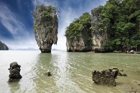 James Bond Island Rocks, Thailand photo