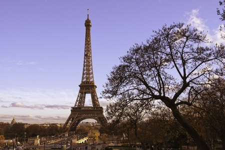 Tour Eiffel view from Trocadero, Paris photo