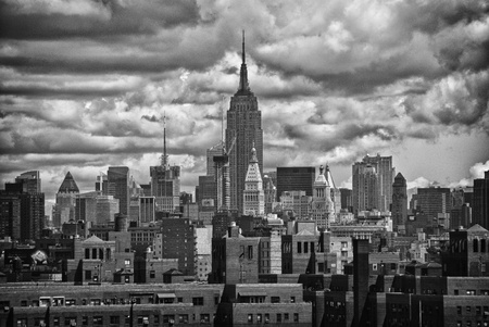 imperium: Empire State Building en NYC Skyline, USA Redactioneel