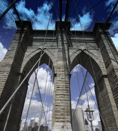 Detail of Brooklyn Bridge in New York City, U.S.A. Stock Photo - 11023475