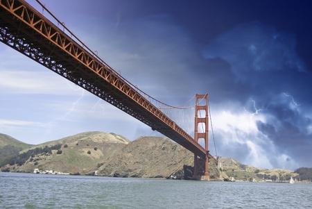 Storm over Golden Gate Bridge in San Francisco, U.S.A. photo