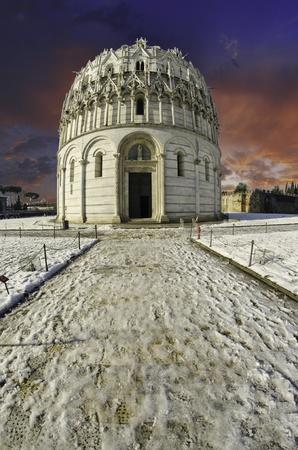 Baptistery in Piazza dei Miracoli, Pisa, Italy Stock Photo - 11273915