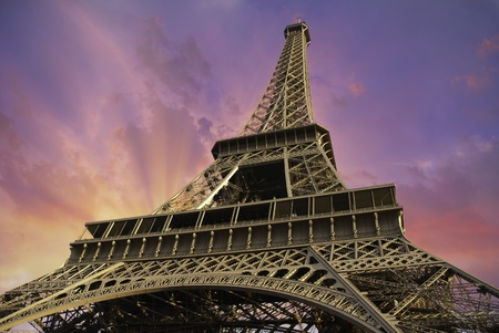 Eiffel Tower from Below in Paris, France Stock Photo - 11276727