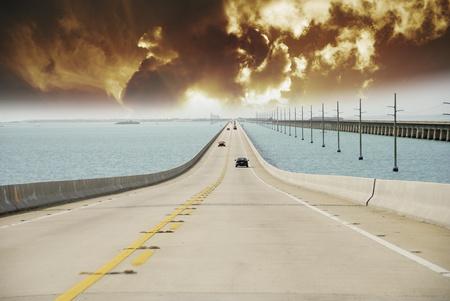 Storm approaching Overseas Highway, Florida photo