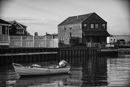 cape cod style: Coast of Nantucket in Massachusetts, U.S.A.