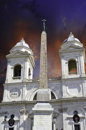 Trinita dei Monti in Rome, Italy