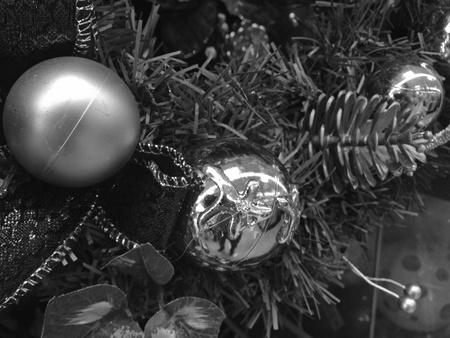 Christmas Balls on a Tree, Italy photo