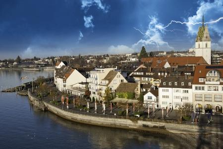 friedrichshafen: Storm approaching Friedrichshafen, Germany Editorial