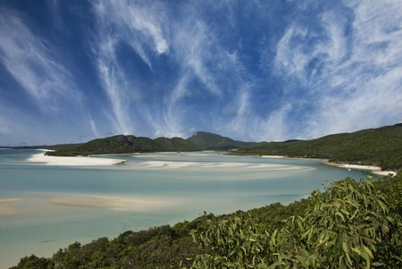 Sky Colors of Whitehaven Beach in the Whitsundays Archipelago, Australia Stock Photo - 11282064