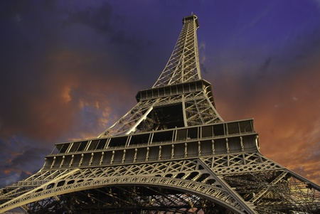 Eiffel Tower from Below in Paris, France Stock Photo - 11558342