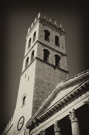 Architecture Detail of Assisi in Umbria, Italy photo