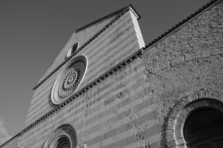 st  francis: Architecture Detail of Assisi in Umbria, Italy