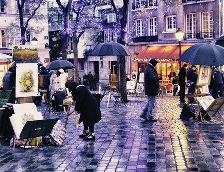 montmartre: Quartier Montmartre en hiver, Paris �ditoriale