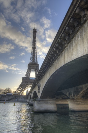 Detail of paris in Winter, France photo