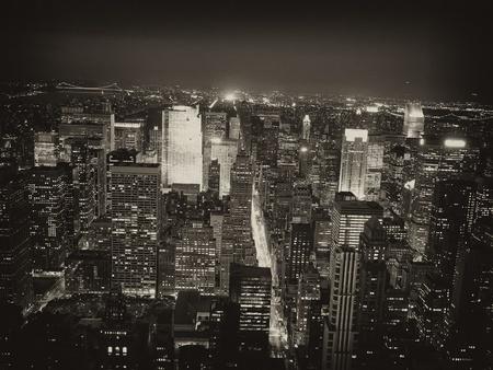 Noční pohled na New York City z Empire State Building