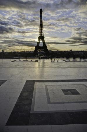 Detail of Paris in Winter photo