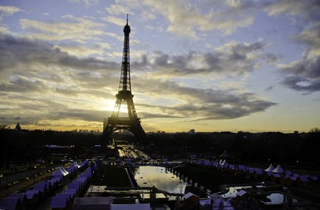 Detail of Paris in Winter