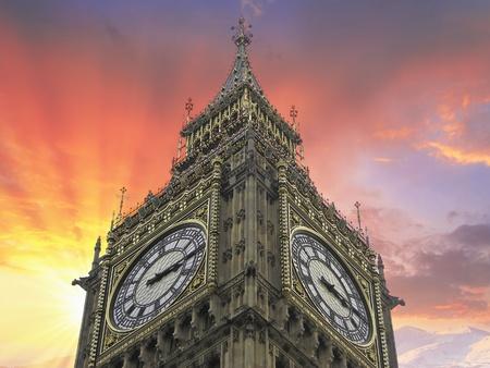 Big Ben Dramatic View, London photo