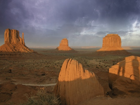 Clouds over Monument Valley, U.S.A. photo