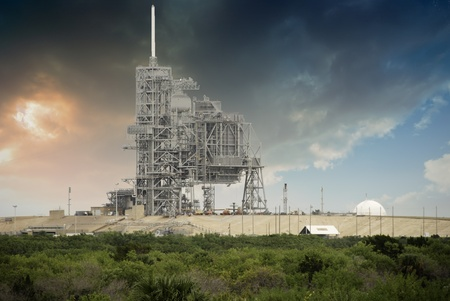 Sky Colors over Space Shuttle Launch Pad in Cape Canaveral Stock Photo - 11767399