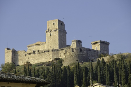 Architecture Detail of Assisi in Umbria, Italy
