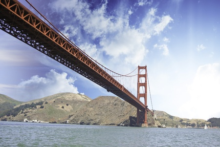 Clouds over Golden Gate Bridge in San Francisco, U.S.A. photo
