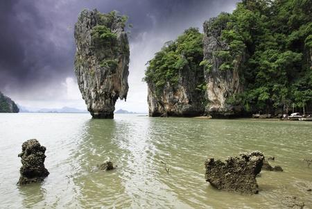 Storm over James Bond Island in Thailand photo