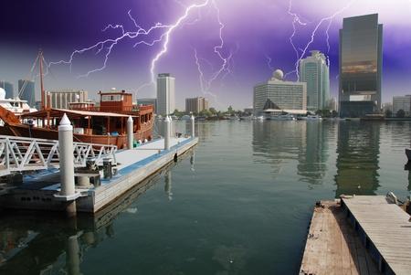 Storm approaching Dubai, UAE