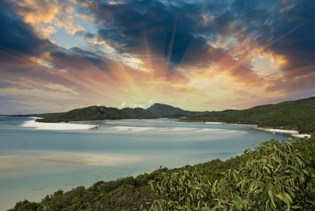 whitehaven beach: Colors of Whitehaven Beach in the Whitsundays Archipelago, Australia