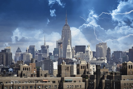 Stormy Sky over New York City, U.S.A. Stock Photo - 11987602