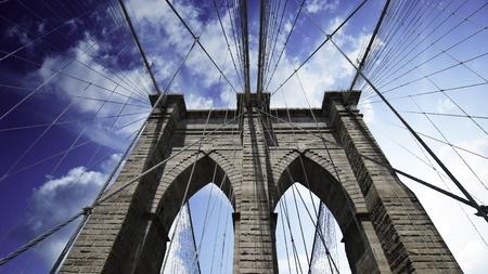 Sky over Borooklyn Bridge, New York City photo