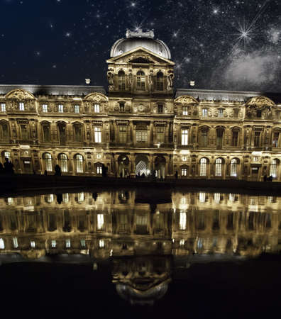 Stars and Reflection at The Louvre in Paris