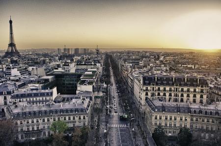 Architectural Detail Paříži v zimě, Francie