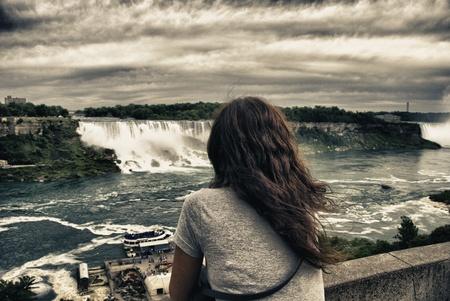 Staring at Niagara Falls, Ontario photo