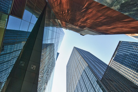 New York City Skyscrapers with Reflections, USA photo