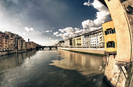 View of Florence from Ponte Vecchio, Italy Stock Photo - 12414781